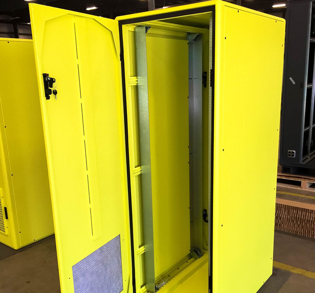 Yellow Server Rack
